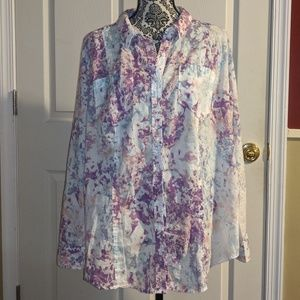 Lane Bryant Floral Button Down 18/20